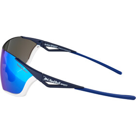Red Bull SPECT Flow Zonnebril, matte white/matte blue/smoke-blue
